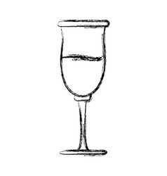 cup glassware crystal for beverage icon vector image