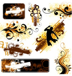 decorative projects vector image vector image