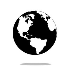 earth globes isolated on white background flat vector image