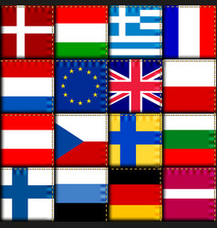 Europe patchwork pattern vector