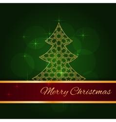 Green christmas card vector image vector image