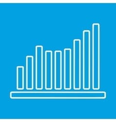 Growing graph thin line icon vector image