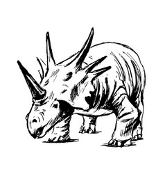 Hand sketch of prehistoric animal vector