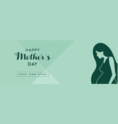 happy mothers day social media cover vector image vector image