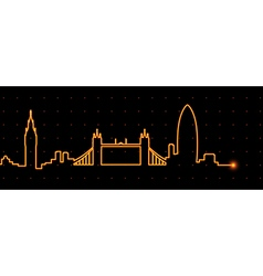 London cardiogram vector