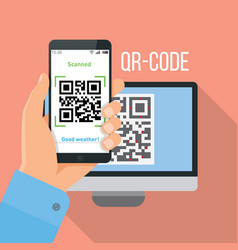 mobile app for scanning qr-code vector image