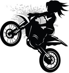 motorcross vector image vector image