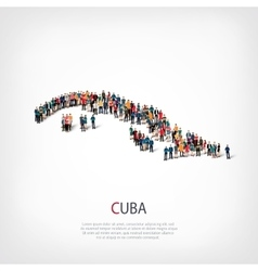 People map country cuba vector