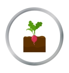 Radish icon cartoon Single plant icon from the vector image