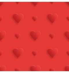Seamless realistick pattern hearts vector image
