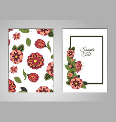 Set cards on his birthday a holiday a wedding vector