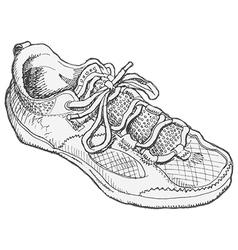 Shoe Sketch vector image