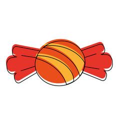 sweet caramel candy vector image