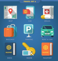 Travel icon set 2 vector image vector image