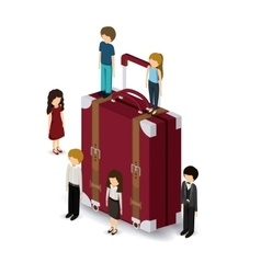 Travel isometrics design vector