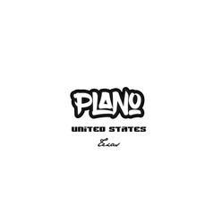 United states plano texas city graffitti font vector