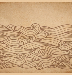 Waves on cardboard vector
