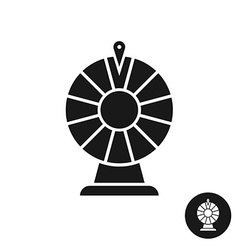 Wheel of fortune black icon symbol Simple one vector image vector image
