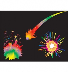 set of holiday fireworks vector image