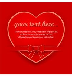 red heart 10 v vector image