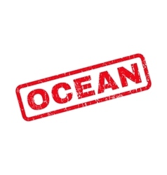 Ocean rubber stamp vector