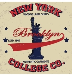 new york t-shirt vector image