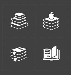 Modern web books set on dark vector