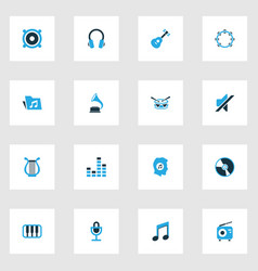 Music colorful icons set collection of music vector