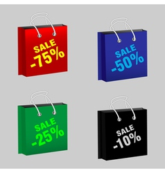 Set sale packages vector image