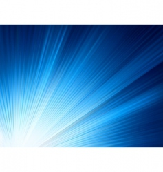 Blue shine rise rays vector