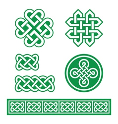 Celtic Irish patterns and braids St Patricks Day vector image