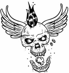 Tattoo skull vector