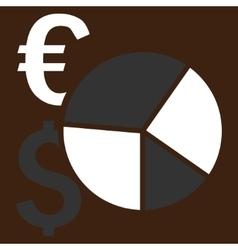 Financial pie chart flat icon vector