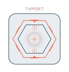 Crosshair target symbol success aim circle vector
