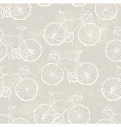 Aged vintage bike pattern vector