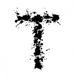 alphabet ink t vector image vector image