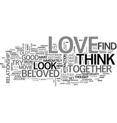 Are you in love text word cloud concept vector