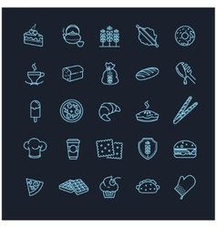 bakery icons food vector image