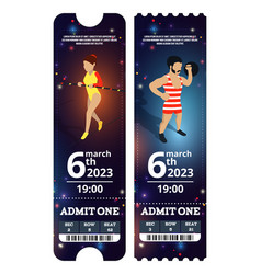 Circus tickets design in vector