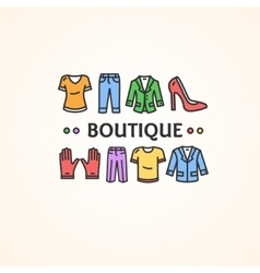 Clothing Shop or Boutique Concept vector image vector image