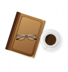 coffee and notepad vector image vector image