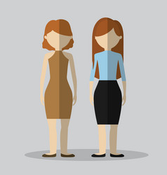 Couple of woman icon vector