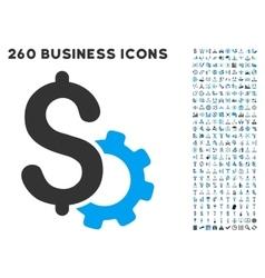 Development price icon with flat set vector