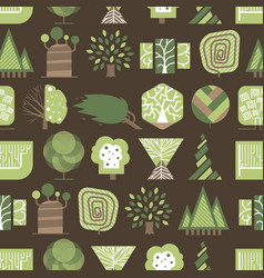 Geometric tree wood forest eco graphic vector