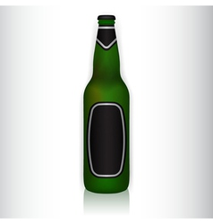 glass bottle with stickers vector image