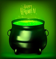 Halloween Witches Cauldron Drawing vector image vector image