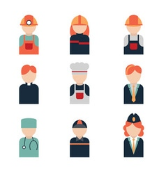 icon profession vector image