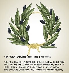 Olive wreath vector