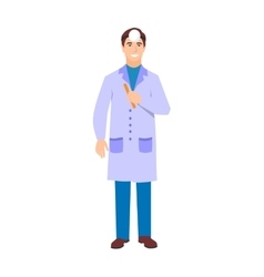 Ophthalmologist doctor character isolated vector image vector image