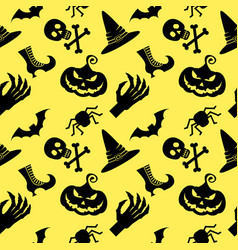 pattern halloween witch vector image vector image